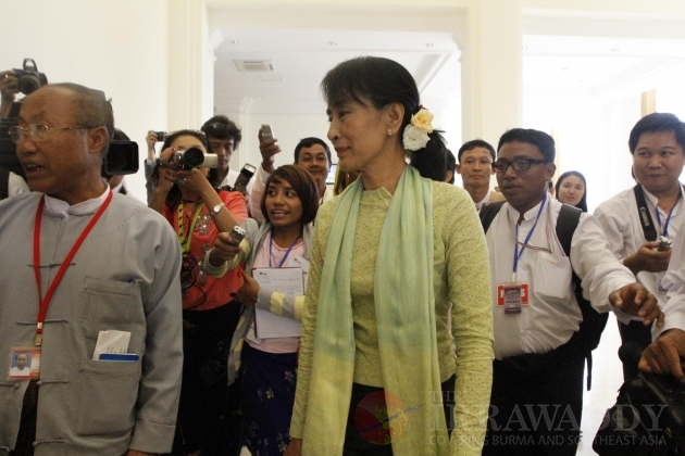 Aung San Suu Kyi at the Parliament on 9th July 2012, Naypyidaw, Myanmar.