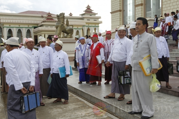 Parliament meeting at Pyithu Hluttaw on 17 July 2012, Naypyidaw, Myanmar.