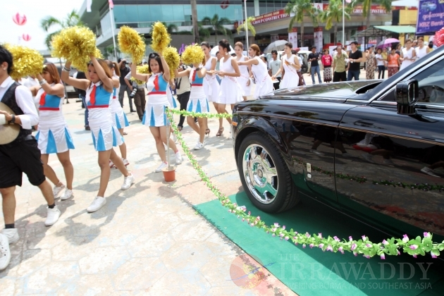 Luxury car show in Rangoon