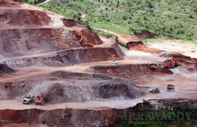 Monywa copper mine protest
