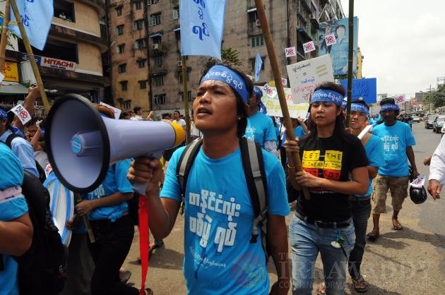 International Peace Day March Rangoon