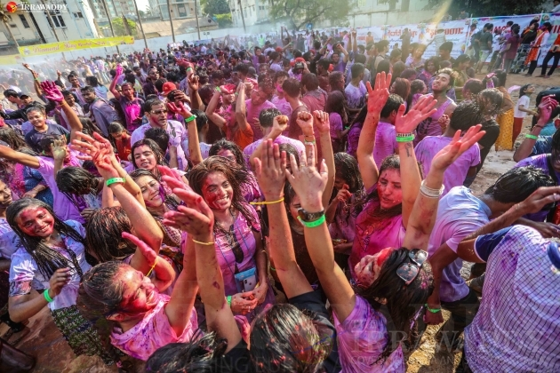 The Hindu traditional Holi festival