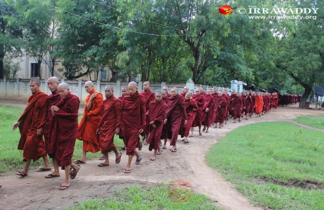 Monks protest against OIC office