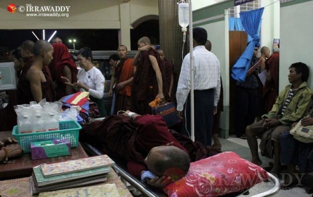 monks burnt at monywa