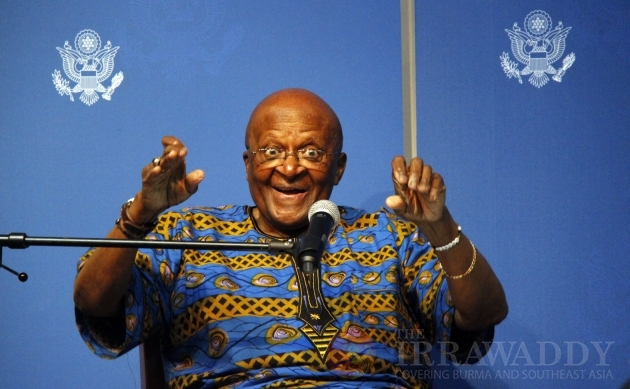 Archbishop Desmond Tutu visits Burma/Myanmar