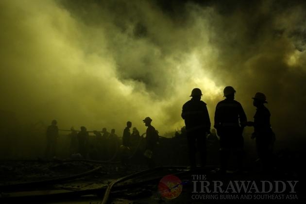 Fire in South Dagon industrial Zone