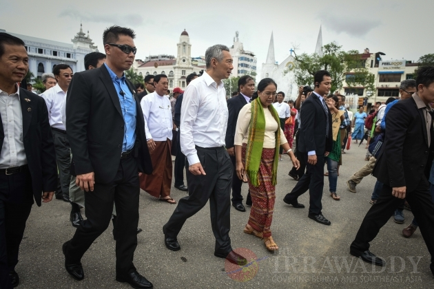 Singaporean PM Lee Hsien Loong Visits in Rangoon