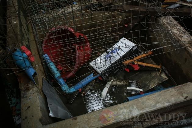 Thuye Thamain village mosque destroyed