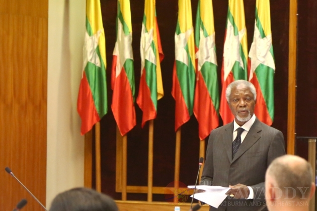 Kofi Annan 'Confident' in Arakan State Advisory Commission's Mandate