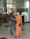 Burma's pro-democracy leader Aung San Suu Kyi lifts her son Kim Aris at the Yangoon international airport after he had spent with his mother for two weeks in Rangoon, Burma.
