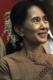 Burma pro-democracy leader Aung San Suu Kyi participates on the National Day at NLD headquarters in Rangoon, Burma.