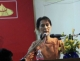 Burma pro-democracy leader Aung San Suu Kyi delivers her speech on the National Day at NLD headquarters in Yangon, Burma.