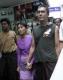 Daw Aung san Suu Kyi and her son Kim Aris visited at the Bogkyoke market in Rangoon, Burma.
