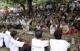Crowds come to meet pro-democracy leader Aung San Suu Kyi.