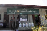 The poll station held at Primary school in the Bago Region, Burma.
