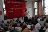 27-09-10 NLD memberships celebrating 22nd anniversary of founding National League for Democracy at headquarter in Rangoon, Burma.