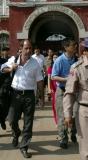 Mr. Quanterna and party leave Myanmar notorious Insein prison in Rangoon, Burma.