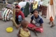 Children begging on the street in Burma