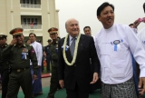 The chief of FIFA Seep Blatter, opened the football academy in Mandalay, during his first trip to Burma.