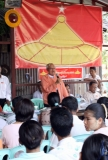 The chairman of National Democratic Force (NDF) Than Nyein held a conference with people in Tamwe Township, Rangoon.