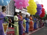 Opening ceremony of a children's hospital in Rangoon, Burma.