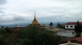 The 6.8 magnitude earthquake destroy monastery and pagoda in Tarlay, Easter Shan State, Burma.