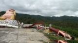The 6.8 magnitude earthquake destroyed monastery and Buddha images in Tarlay, Easter Shan State, Burma.