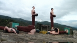 The Buddha statues was damaged by earthquake in Tarlay, Easter Shan State, Burma.