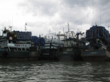 The port in Ranong, Thailand.