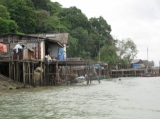 A worker house set up beside the beach in Ranong, southern Thailand.
