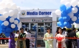 02-05-11 Supervisory Committee of the Myanmar Writers and Journalists Association (MWJA) opening ceremony for the Media Corner in Kyauktada Township in Rangoon, Burma.