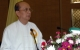 "20-05-05 Burmese President Thein Sein delivers opening speech at a workshop on ""Rural Development and Poverty Alleviation"" in Naypyitaw, Burma."