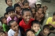 Children react to visitors in a village in Nyaung Tone, Burma Irrawaddy Delta, about 60 miles southwest of Rangoon, Burma