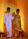 """Burma models perform wedding dresses created by Burma designers during the title of """"Happiest Moment of Your Life"""" at Traders Hotel in Rangoon, Burma."""