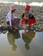 Kachin girls fetches water from Myitson River.
