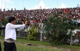 Burma's football chief Zaw Zaw requests fans to calm.