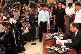 Tomas Ojea Quintana, U.N. human rights envoy to Myanmar, talks during press conference at Yangon International Airport Thursday, Aug. 25, 2011, in Yangon, Myanmar.