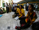 Myanmar activits gather to pray at Sule Pagoda on fourth anniversary of the Buddhist monks protest Monday, September 26, 2011, in Yangon, Myanmar. Security tighten in towndown of Yangon.