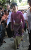 NLD hold a meeting today and decided to re-register as a political party. Friday, November 18, 2011, in Yangon, Myanmar.