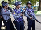 A bomb blast at public toilet in Hletan junction and killed 1 woman, 2 injures. Wednesday, Dec.21, 2011, in yangon, Myanmar
