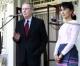 Suu Kyi meets Mitch McConnell, U.S Senator at her house on 16 Jan 2012