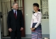 Suu Kyi meets Mitch McConnell, U.S Senator at her house on 16 Jan 2012