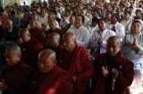 Pray for peace and Religious Unity  by group of people from all different religions on 16 Jan 2012, Myanmar