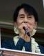 Aung San Suu Kyi at NLD Mingalartaungnyunt Branch office Opening event