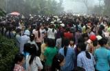 Hlaing Tharyar Worker Strike against Tai Yi Slipper Company, 15 Feb 2012, Hlaing Tharyar Township, Yangon, Myanmar.