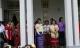 Daw Suu meets KNU peace group at her house on 8th April 2012, Yangon, Myanmar.
