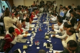 Peace Meeting between KNU and Burmese Peace Representative Group on 6th April 2012, at Sedona Hotel Yangon, Myanmar.