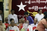 18-04-12 NLD party pays respect to aged people in Yangon, Myanmar.