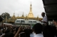 About one hundred muslims gathered in Yangon and asked for their rights and justice for the at least nine muslims who were killed allegedly by Buddhist residents, in the western  part of Rakhaing State Myanmar, on 04 June.