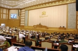The lady at the Parliament on 9th July 2012, Naypyidaw, Myanmar.